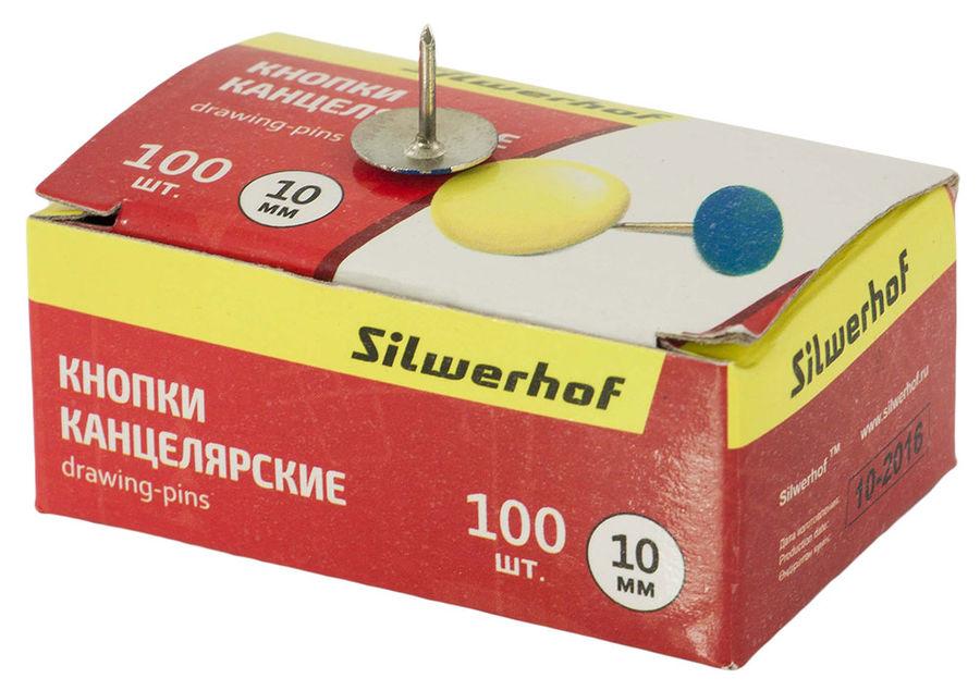 Кнопки Silwerhof 501010 эмаль цветная d=10мм (упак.:100шт) картонная коробка