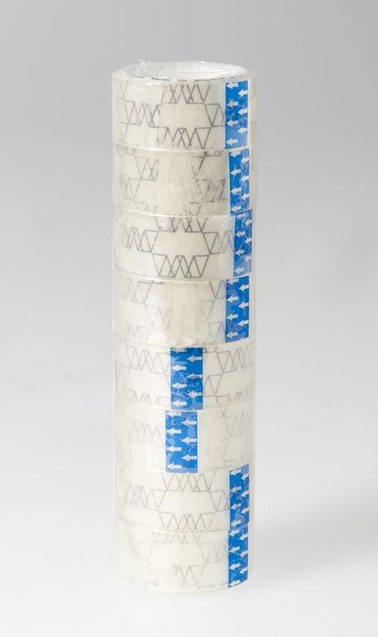 Клейкая лента канцелярская Silwerhof 481057 прозрачная шир.18мм дл.10м 35мкр полипропилен спайка