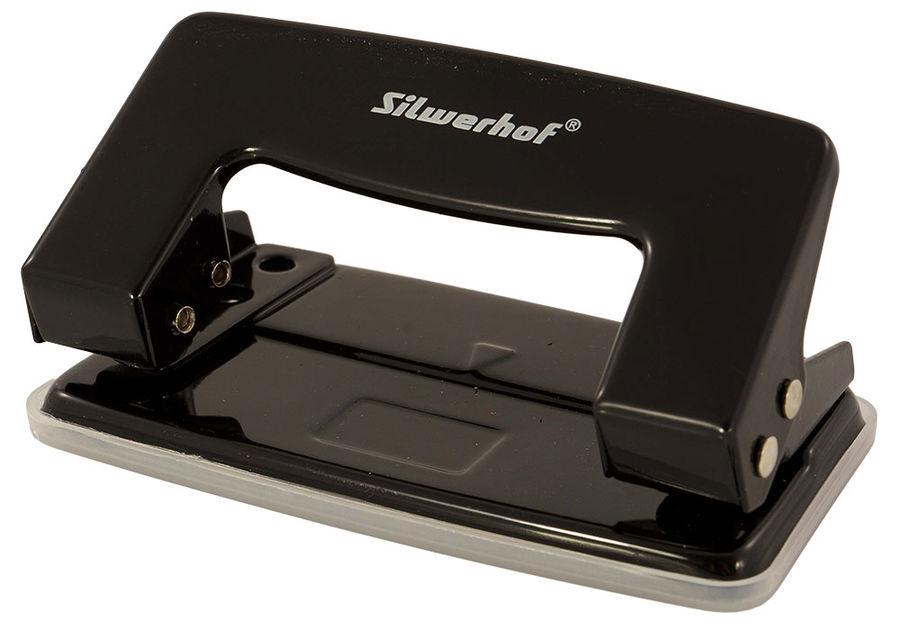 Дырокол Silwerhof 392032-01 макс.:10лист. металл черный отв.:2