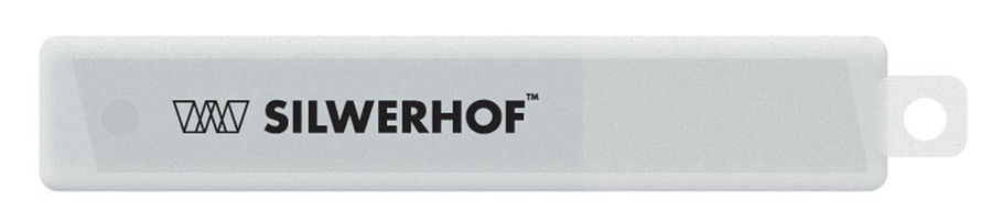 Лезвия для канцелярского ножа Silwerhof 461001 шир.лез.9мм (упак.:10шт) пласт.кор.