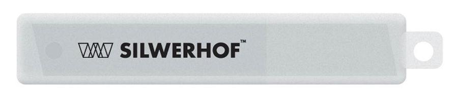 Лезвия для канцелярского ножа Silwerhof 461002 шир.лез.18мм (упак.:10шт) пласт.кор.