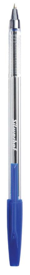 Ручка шариковая Silwerhof 026144-02 0.7мм корпус пластик прозрачный синие чернила