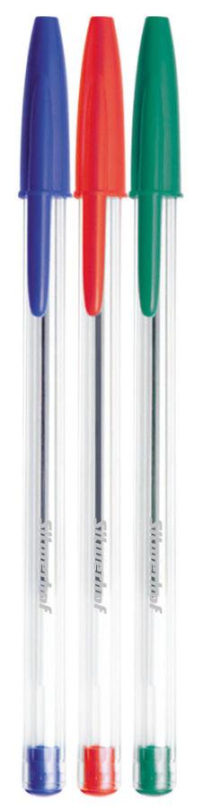 Ручка шариковая Silwerhof 026131-00 корпус пластик 3цв. индив. пакет с европодвесом