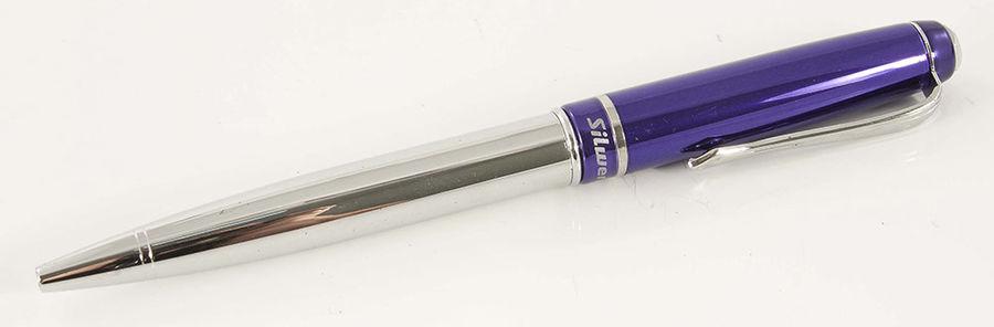 Ручка шариковая Silwerhof IMAGE (025027) корпус метал. синий синие чернила коробка подарочная