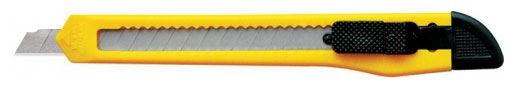 Нож канцелярский Silwerhof 460021 SOLO шир.лез.9мм ассорти пакет с европод.