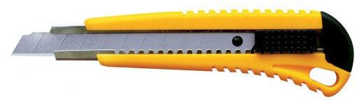 Нож канцелярский Silwerhof 460032 SUPPORT шир.лез.18мм 2 сменных лезвия ассорти