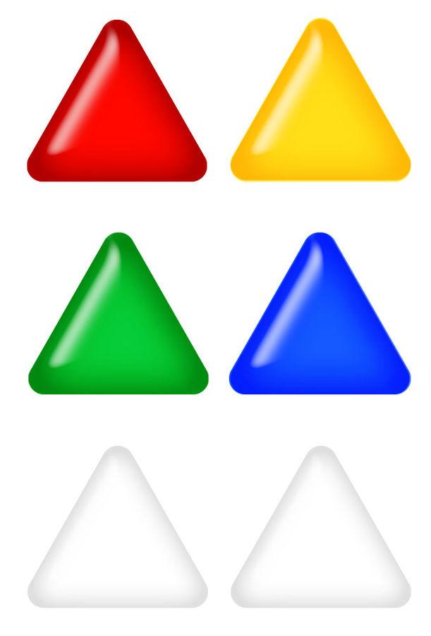 Магнит для досок Silwerhof Elegance 658005-02 пластик ассорти d=30мм треугольник (упак.:6шт)