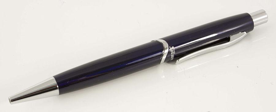 Ручка шариковая Silwerhof WELLE (025040) лак.корп. синий синие чернила коробка подарочная