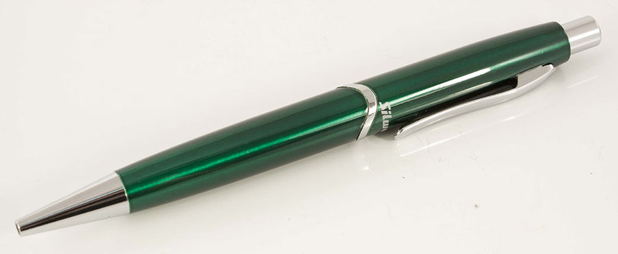 Ручка шариковая Silwerhof WELLE (025039) авт. лак.корп. зеленый синие чернила коробка подарочная