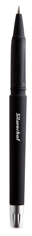 Ручка гелевая Silwerhof RATE (016039-01) 0.5мм корпус кауч.микропор. черные чернила коробка картонна