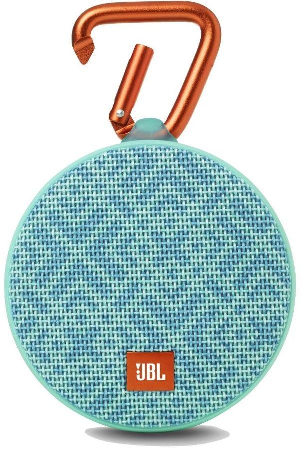 Портативная колонка JBL Clip 2 Mosaic,  3Вт, бирюзовый  / голубой [jblclip2mosaic]