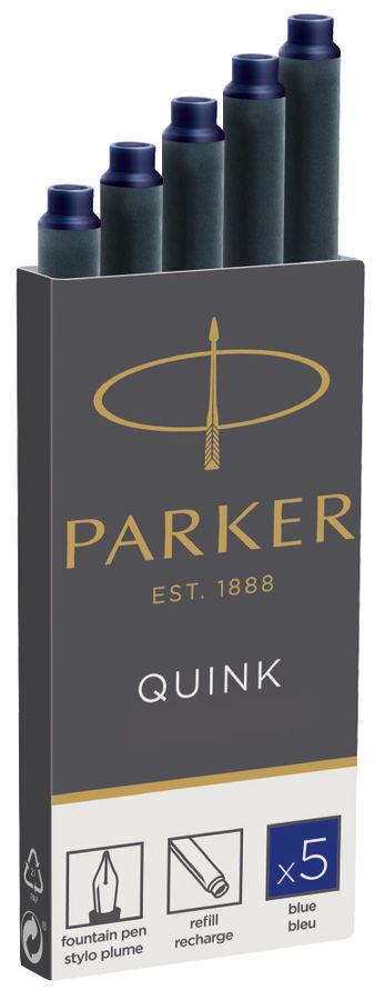 Картридж Parker Quink Z11 (1950384) синие чернила для ручек перьевых (5шт)