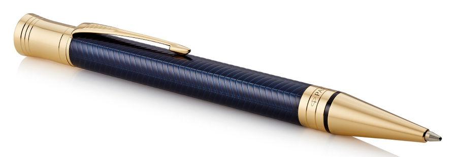 Ручка шариковая Parker Duofold K307 Prestige (1931373) Blue Chevron GT M черные чернила подар.кор.