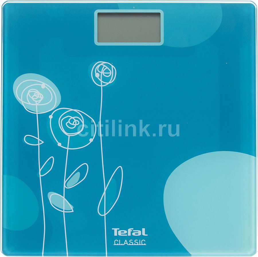 Весы TEFAL PP1115V0, до 160кг, цвет: голубой [2100094625]