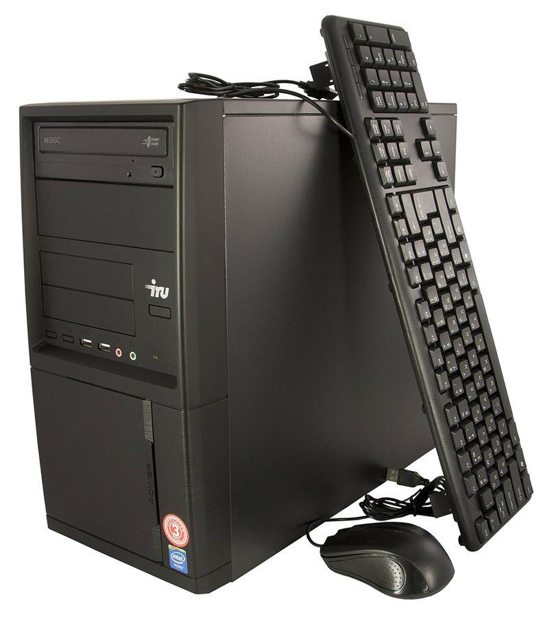 Компьютер  IRU Office 511,  Intel  Core i5  6400,  DDR4 4Гб, 1Тб,  Intel HD Graphics 530,  DVD-RW,  Windows 10 Home,  черный [427685]