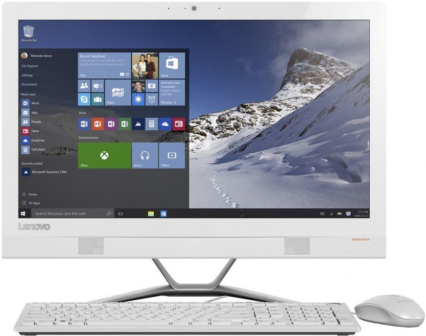 "Моноблок LENOVO IdeaCentre 300-23ISU, 23"", Intel Core i5 6200U, 4Гб, 1000Гб, Intel HD Graphics 520, DVD-RW, Free DOS, белый [f0by00fyrk]"