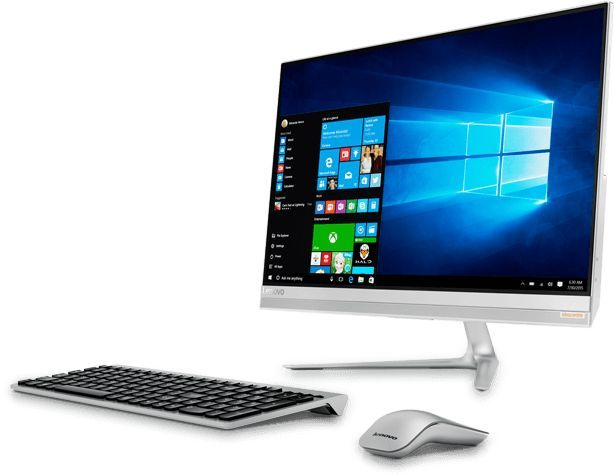 Моноблок LENOVO IdeaCentre 520S-23IKU, Intel Core i3 7100U, 8Гб, 256Гб SSD,  NVIDIA GeForce 930a - 2048 Мб, Windows 10, серебристый [f0cu0026rk]