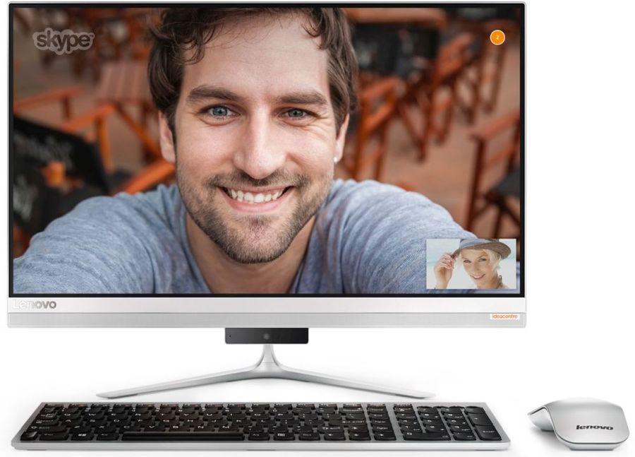 "Моноблок LENOVO IdeaCentre 520S-23IKU, 23"", Intel Core i7 7500U, 8Гб, 256Гб SSD,  NVIDIA GeForce 930a - 2048 Мб, внешний DVD-RW, Windows 10, серебристый [f0cu002ark]"