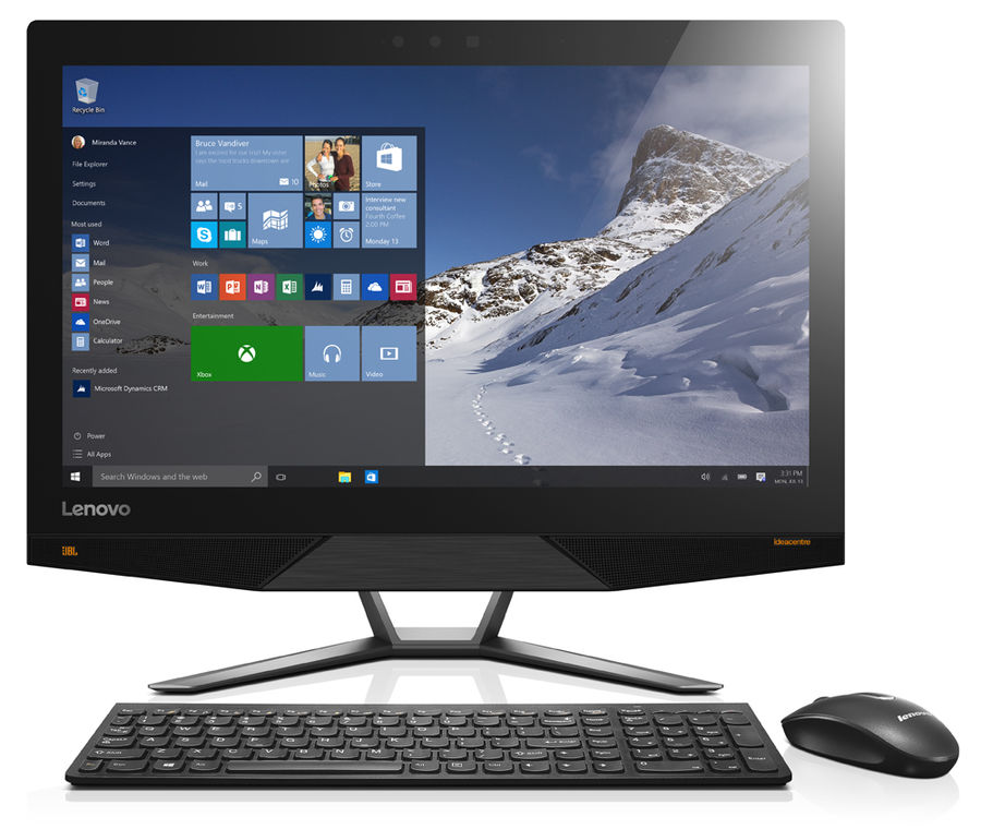 Моноблок LENOVO IdeaCentre 720-24IKB, Intel Core i3 7100, 4Гб, 1000Гб, NVIDIA GeForce GTX960A - 2048 Мб, Windows 10, черный [f0cm0015rk]