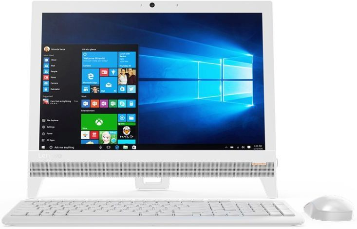 Моноблок LENOVO IdeaCentre 310-20IAP, Intel Celeron J3355, 4Гб, 500Гб, Intel HD Graphics 500, Free DOS, белый [f0cl005drk] моноблок lenovo ideacentre 310 20iap 19 5 intel j4205 4gb 500gb dos black