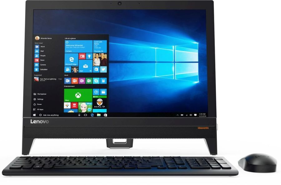 Моноблок LENOVO IdeaCentre 310-20IAP, Intel Celeron J3355, 4Гб, 1000Гб, Intel HD Graphics 500, DVD-RW, Windows 10, черный [f0cl005jrk] ноутбук acer aspire a315 31 c3cw 15 6 intel celeron n3350 1 1ггц 4гб 500гб intel hd graphics 500 windows 10 черный [nx gnter 005]