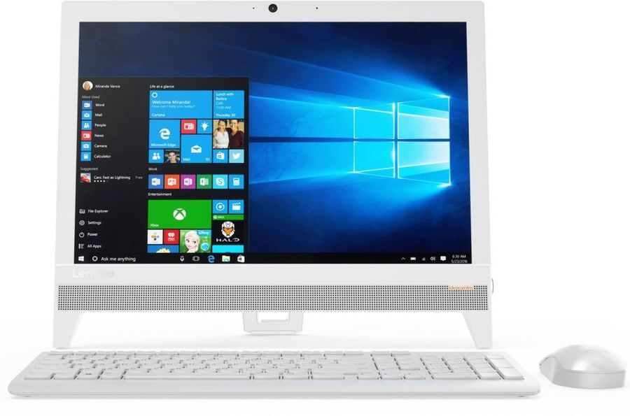 "Моноблок LENOVO IdeaCentre 310-20IAP, 19.5"", Intel Celeron J3355, 4Гб, 1000Гб, Intel HD Graphics 500, DVD-RW, Windows 10, белый [f0cl005krk]"