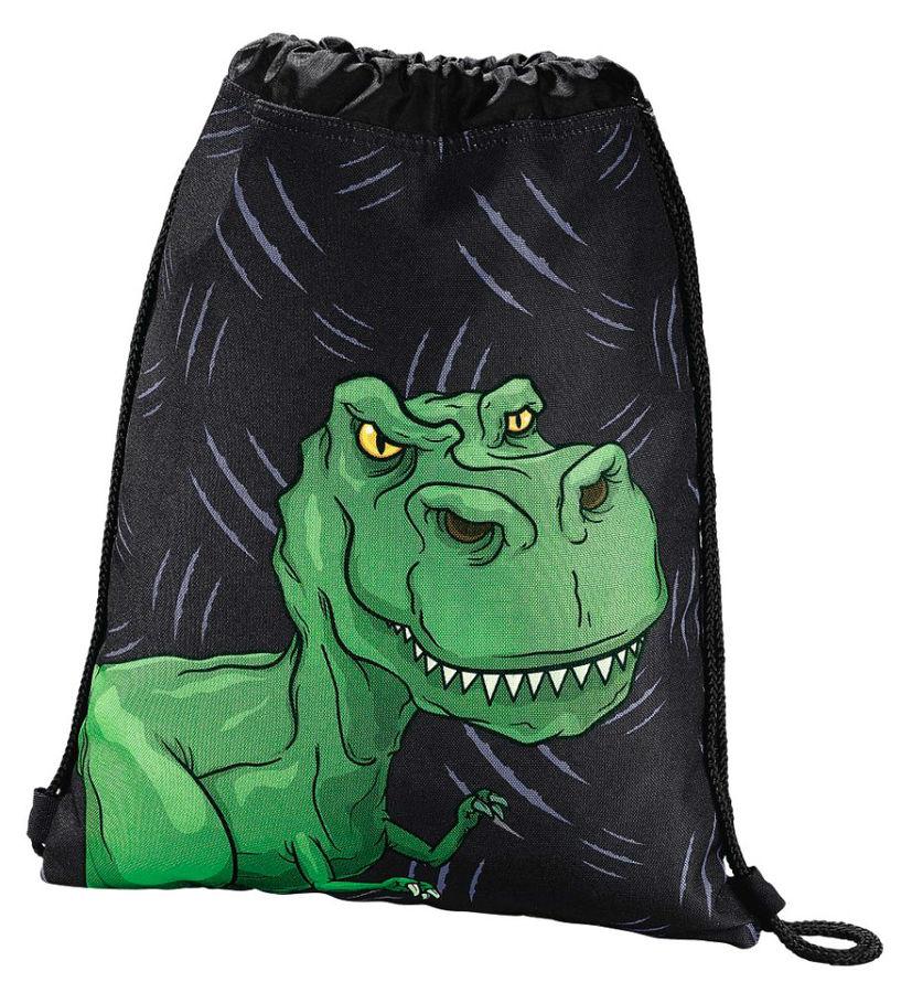 Сумка для обуви Hama Dino 00139111 черный/зеленый 33x40см 1 отдел. б/карм. полиэстер