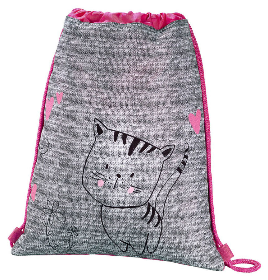 Сумка для обуви Hama Lovely cat 00139113 серый/розовый 33x40см 1 отдел. б/карм. полиэстер hama пенал lovely cat