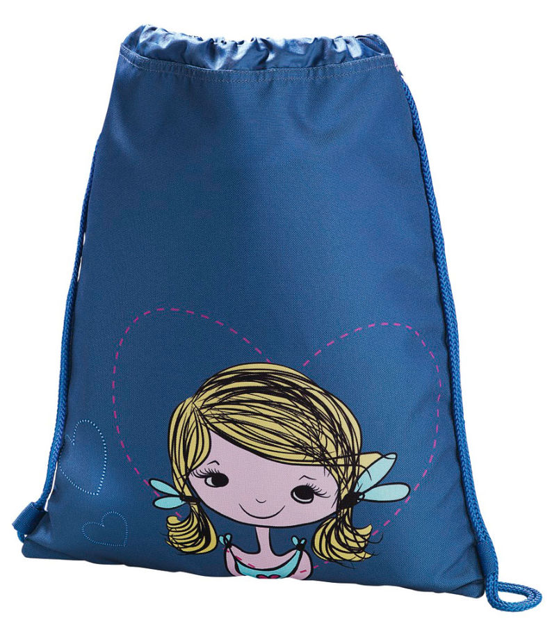 Сумка для обуви Hama Lovely girl 00139115 синий/голубой 33x40см 1 отдел. б/карм. полиэстер