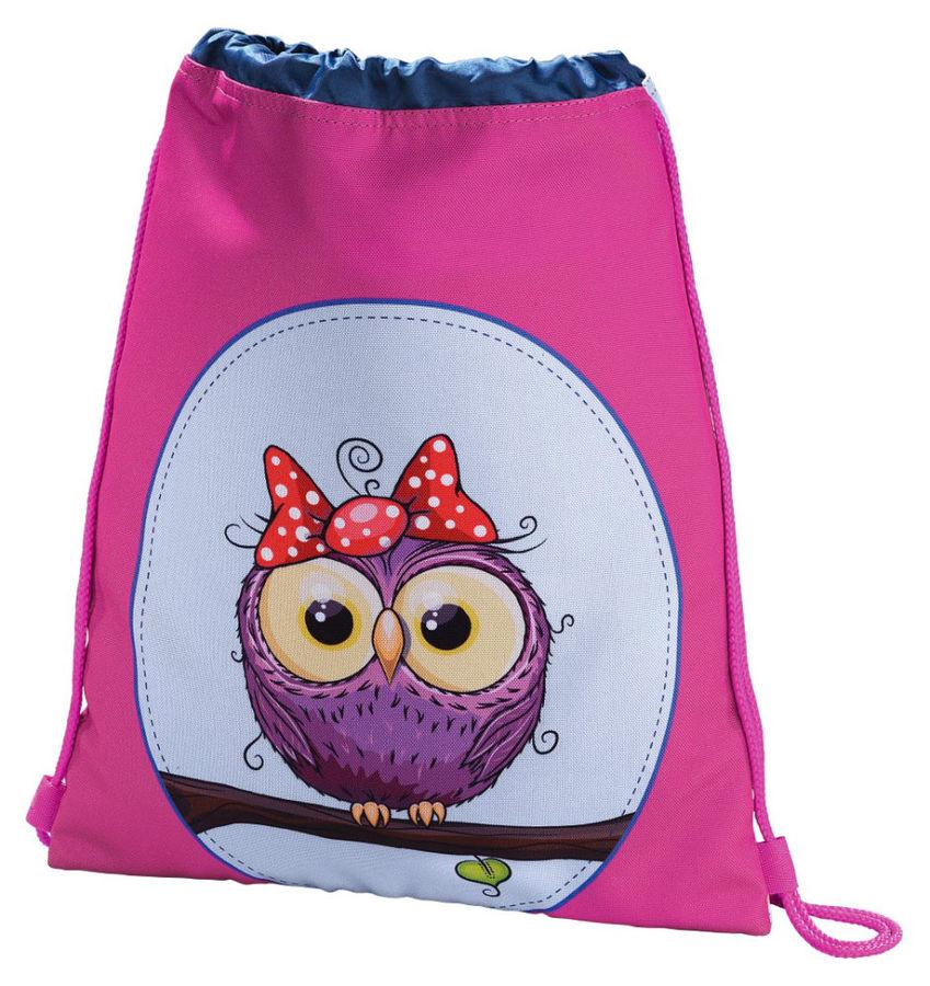 Сумка для обуви Hama Sweet owl 00139117 розовый/голубой 33x40см 1 отдел. б/карм. полиэстер