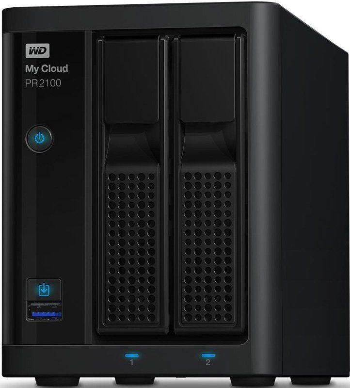 Сетевое хранилище WD MY CLOUD PR2100 WDBVND0000NBK-EEUE,  без дисков