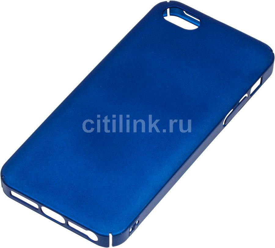 Чехол (клип-кейс) REDLINE iBox Fresh, для Apple iPhone 5/5s/SE, синий [ут000010060]