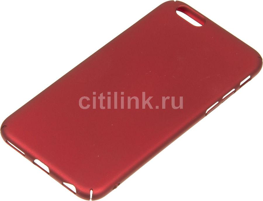 Чехол (клип-кейс) REDLINE iBox Fresh, для Apple iPhone 6/6S, красный [ут000010062]