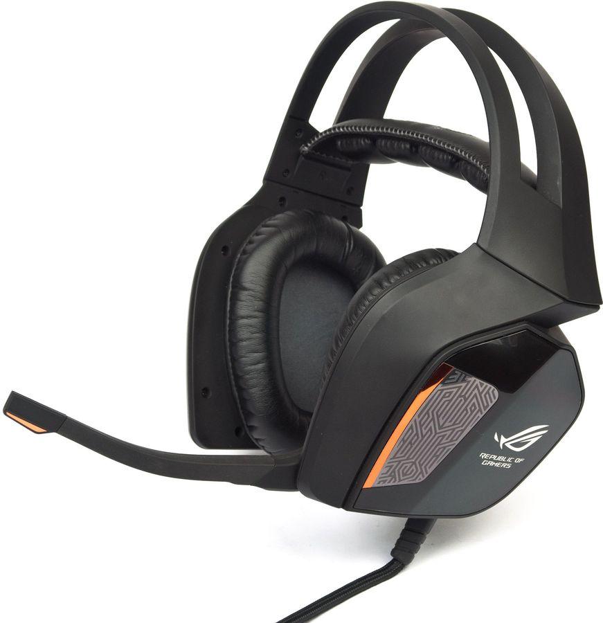 Наушники с микрофоном ASUS ROG Centurion,  мониторы, черный  [90yh00j1-m8ua00]