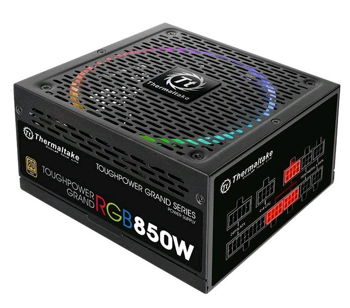 Блок питания THERMALTAKE Toughpower Grand RGB,  850Вт,  140мм,  черный, retail [ps-tpg-0850fpcgeu-r]