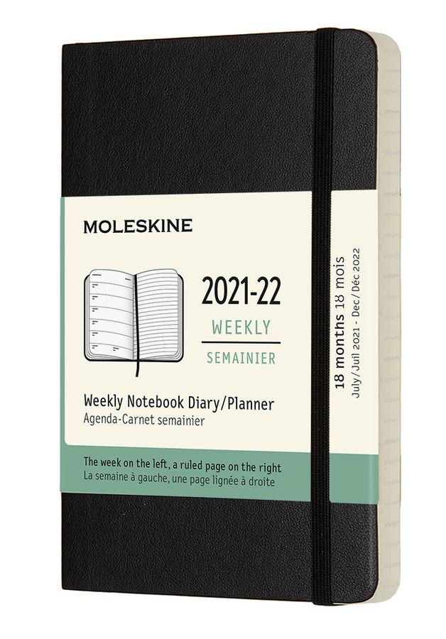 Еженедельник MOLESKINE Academic Soft WKNT,  датированный на 18 месяцев,  208стр.,  черный [dsb18wn2]