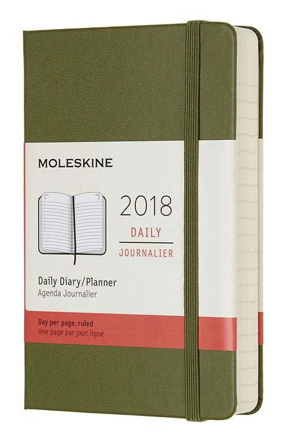 Ежедневник MOLESKINE CLASSIC DAILY POCKET,  400стр.,  зеленый вяз