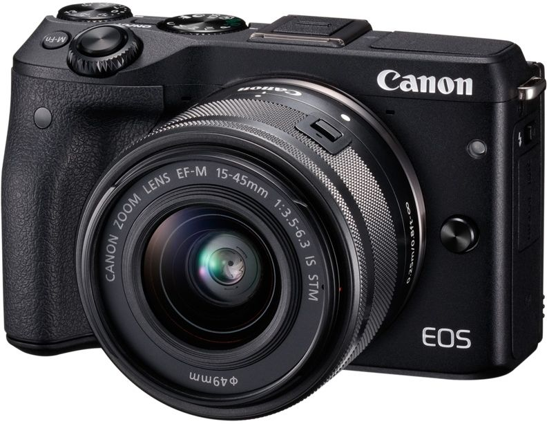 Фотоаппарат CANON EOS M3 kit ( 15-45 IS STM f/ 3.5-6.3), черный [9694b142]
