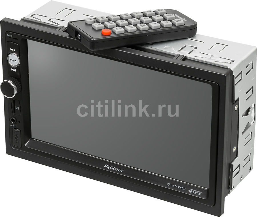 Автомагнитола PROLOGY DVU-750, USB, SD автомагнитола prology cmu 520