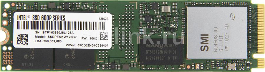 SSD накопитель INTEL 600p Series SSDPEKKW128G7X1 128Гб, M.2 2280, PCI-E x4,  NVMe