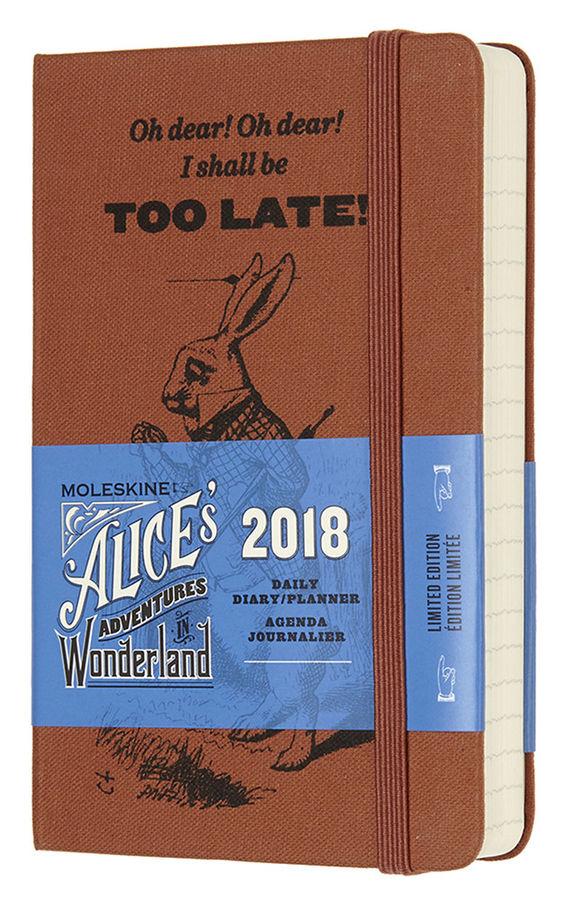 Ежедневник MOLESKINE ALICE IN WONDERLAND POCKET LE,  400стр.,  текстиль/ текстиль,  оранжевый