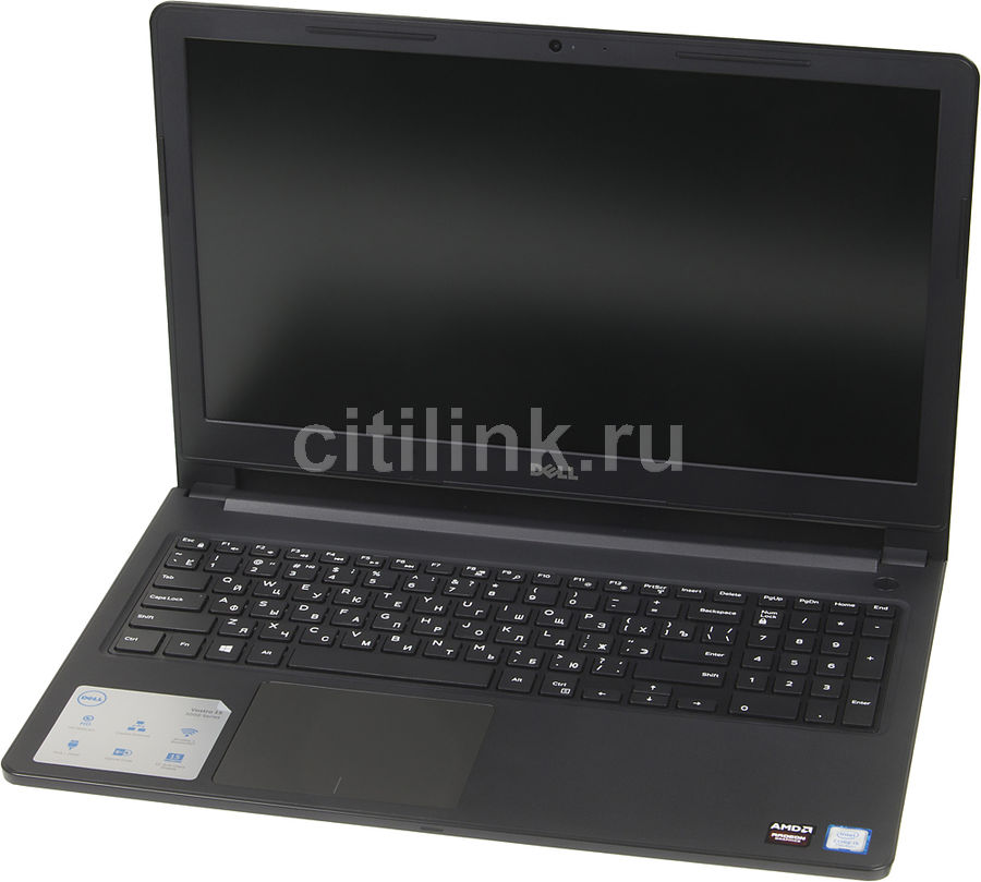 Ноутбук DELL Vostro 3568, 15.6, Intel Core i3 6006U 2ГГц, 4Гб, 1000Гб, AMD Radeon R5 M420X - 2048 Мб, DVD-RW, Windows 10 Home, 3568-7568, черный компьютер iru home 310 intel core i3 7100 ddr4 4гб 1тб amd radeon rx 460 2048 мб dvd rw windows 10 home черный [435302]