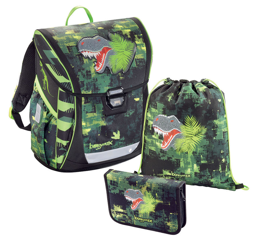 Ранец Step By Step BaggyMax Fabby Green Dino 3 предмета [00138630]