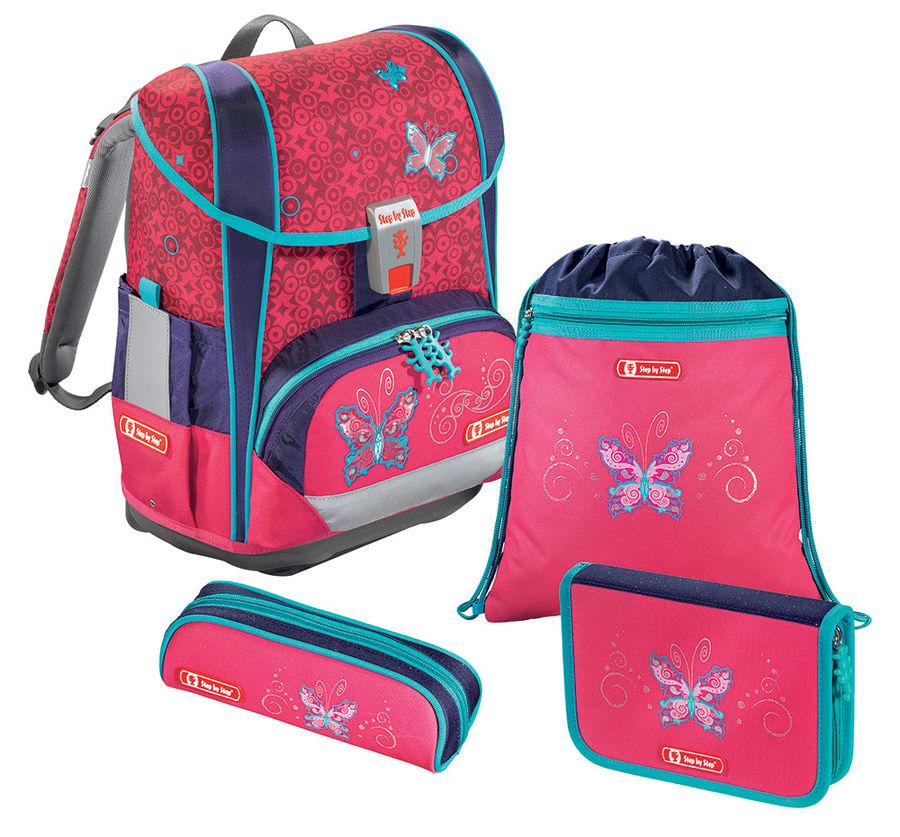 Ранец Step By Step Light2 Butterfly Dancer розовый/синий 4 предмета