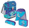 Ранец Step By Step Light2 Happy Dolphins голубой 4 предмета вид 1