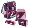 Ранец Step By Step Light2 Unicorn бордовый/розовый 4 предмета вид 1