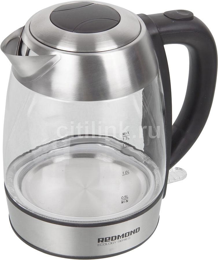 Чайник электрический REDMOND RK-G168-E, 2200Вт, серебристый