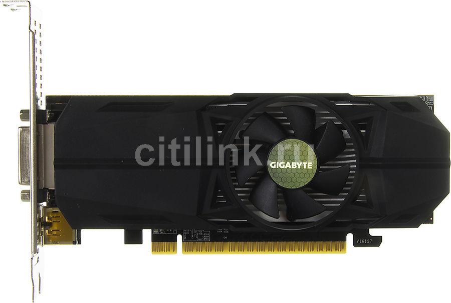 Видеокарта GIGABYTE nVidia  GeForce GTX 1050 ,  GV-N1050OC-2GL,  2Гб, GDDR5, Low Profile,  OC,  Ret