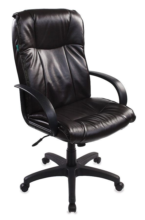 Кресло руководителя БЮРОКРАТ CH-838AXSN, на колесиках, искусственная кожа, коричневый [ch-838axsn/ne-14]
