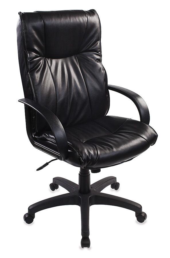 Кресло руководителя БЮРОКРАТ CH-838AXSN, на колесиках, искусственная кожа, черный [ch-838axsn/ne-16]